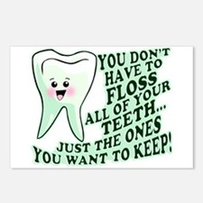 Funny Dental Hygiene Postcards (Package of 8)