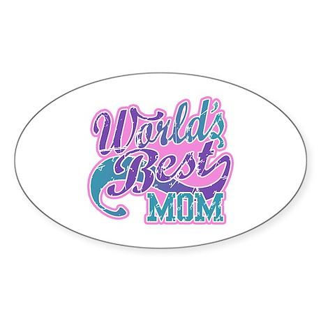 World's Best Mom Sticker (Oval)