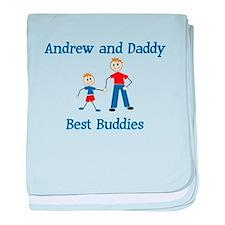 Andrew & Daddy - Best Buddies baby blanket