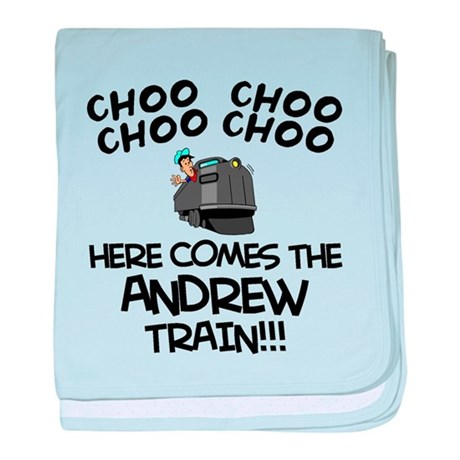 Andrew Train baby blanket