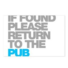 If Found Please Return To The Pub Postcards (Packa