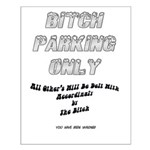 Bitch Parking Only Sign