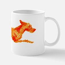 Leaping Vizsla Small Small Mug