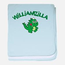Williamzilla baby blanket