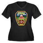 Asheville Fire Department Women's Plus Size V-Neck