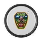 Asheville Fire Department Large Wall Clock