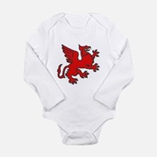 Red Griffin Long Sleeve Infant Bodysuit