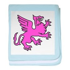 Pink Griffin baby blanket