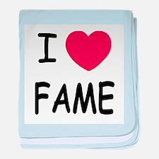 I heart fame baby blanket