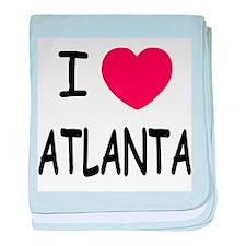 I heart Atlanta baby blanket