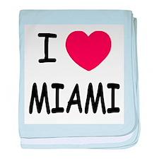 I heart Miami baby blanket