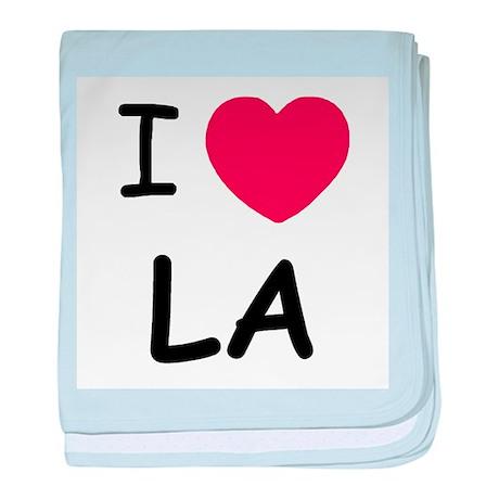 I heart LA baby blanket