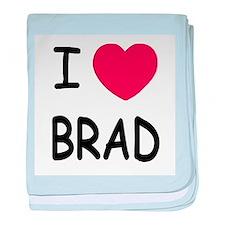 I heart Brad baby blanket