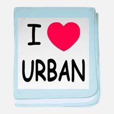 I heart urban baby blanket