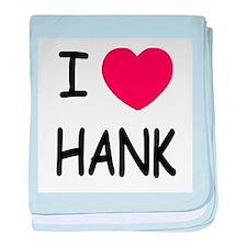 I heart hank baby blanket