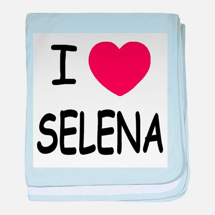 I heart selena baby blanket