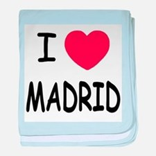 I heart Madrid baby blanket
