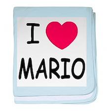 I heart Mario baby blanket