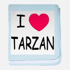 I heart Tarzan baby blanket