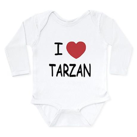 I heart Tarzan Long Sleeve Infant Bodysuit