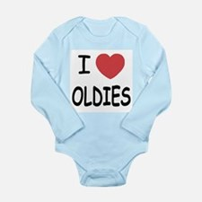 I heart oldies Long Sleeve Infant Bodysuit