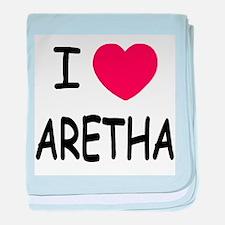 I heart Aretha baby blanket