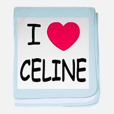 I heart Celine baby blanket