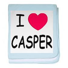 I heart Casper baby blanket