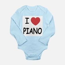I heart piano Long Sleeve Infant Bodysuit