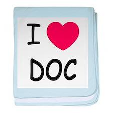 I heart doc baby blanket