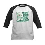 Funny Dentist Quote Kids Baseball Jersey