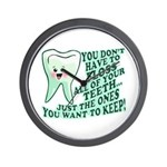 Funny Dentist Quote Wall Clock