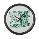 Funny Dentist Quote Large Wall Clock
