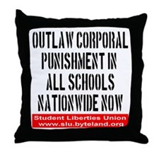 Outlaw Corporal Punishment Throw Pillow