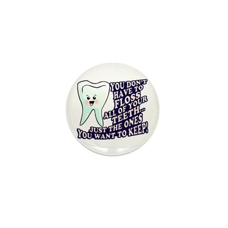 Brush and Floss Mini Button