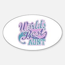 World's Best Aunt Sticker (Oval)