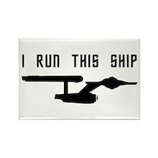 I Run This Ship Rectangle Magnet