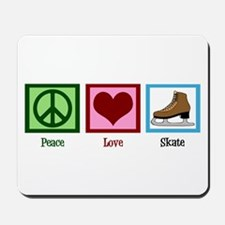 Peace Love Ice Skating Mousepad