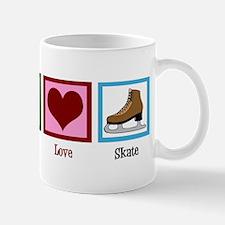 Peace Love Ice Skating Mug