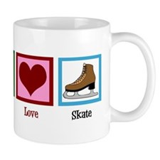 Peace Love Ice Skating Small Mug