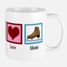 Peace Love Ice Skating Small Small Mug