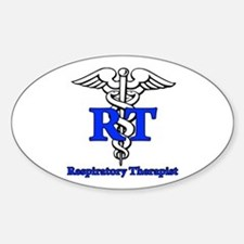 Respiratory Therapist Sticker (Oval 10 pk)