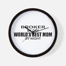 World's Best Mom - Broker Wall Clock