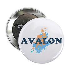 "Avalon NJ - Seashells Design 2.25"" Button"
