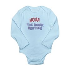 Michael - Dino Big Brother Long Sleeve Infant Body