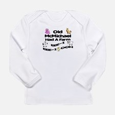Old McMichael Had a Farm Long Sleeve Infant T-Shir