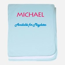 Michael - Available for Playd baby blanket