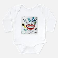 Dentist Jelly Beans Long Sleeve Infant Bodysuit