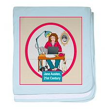 Woman Writer baby blanket