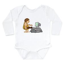 Caveman Long Sleeve Infant Bodysuit